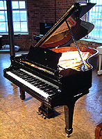 Modern Steinway Model O Grand Piano For Sale with a black case