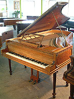 Artcase, Broadwood Grand Piano with an exquisite parquetry case and carvings.