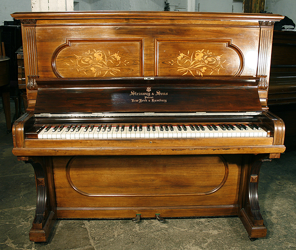 Inlaid, Steinway upright Piano for sale.