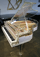Laniem Acrylic Grand Piano with an aluminium frame