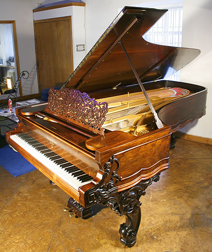 Steinway concert grand piano for sale with an ornate for How big is a grand piano