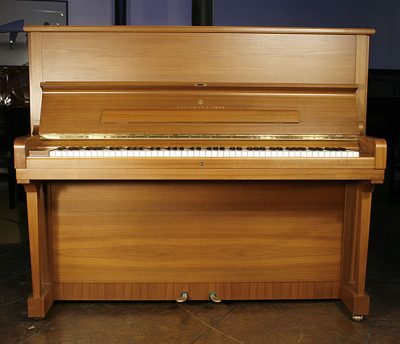 Walnut, Steinway Model V upright Piano for sale.