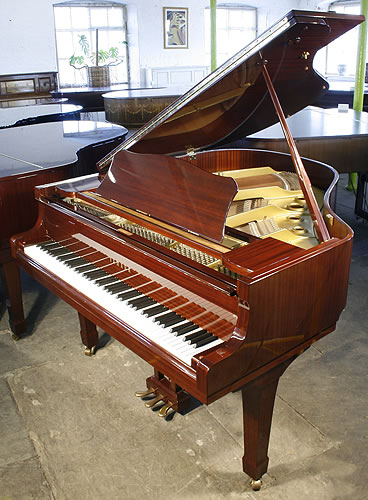 Yamaha G1 grand Piano for sale with a mahogany case and polyester finish.