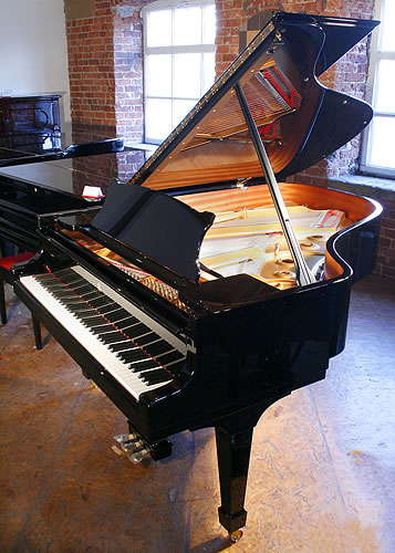 New steinway model a grand piano for sale with a black for How big is a grand piano