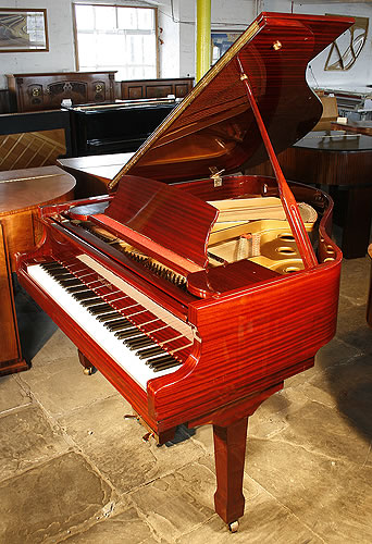 Reid Sohn baby grand Piano for sale with a mahogany case and polyester finish.
