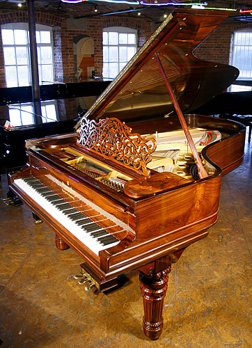Restored steinway model b grand piano for sale with an for How big is a grand piano