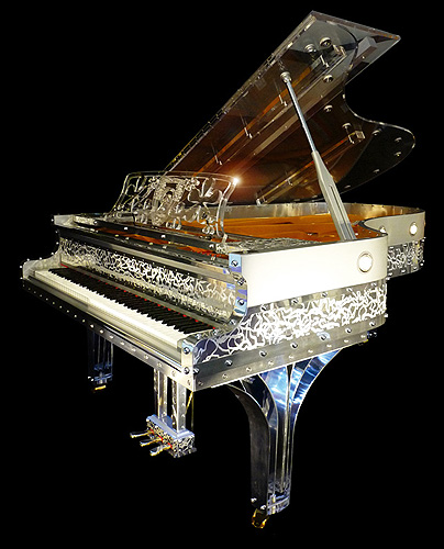Gary pons sy 215 concert grand piano made from transparent for Big grand piano