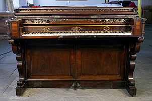 Inlaid, Henri Pape Upright Piano