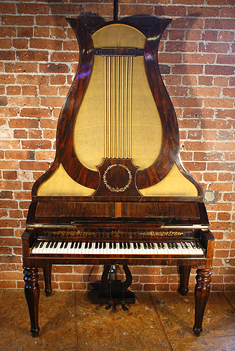 Antique, Klein Lyre Piano for sale.